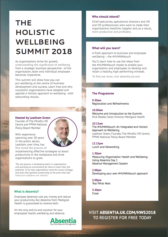 Holistic Wellbeing Summit 2018 – PPMA